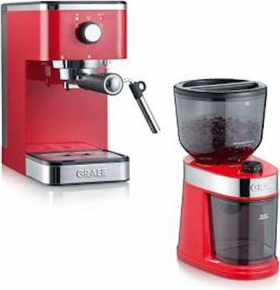 Graef Salita Set Espressokeitin ja Kahvimylly Punainen